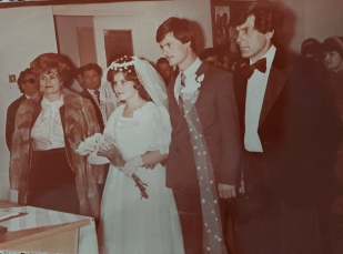 Nunta părinților și nașii Ecaterina și Grigore..